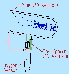 With Oxygen sensor spacer